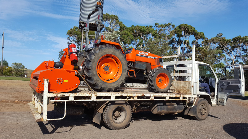 Kubota and Flail Mower