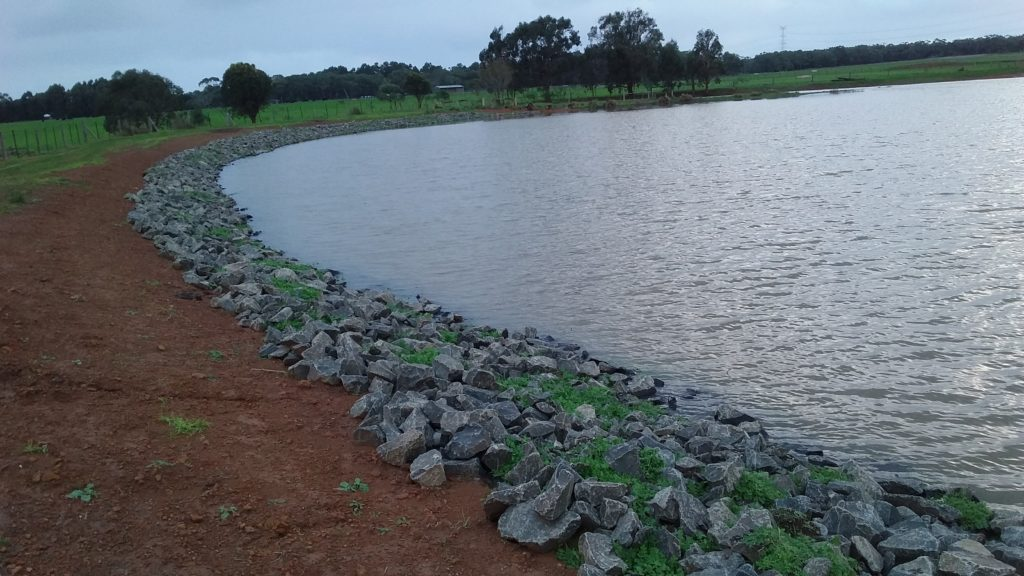 Farm 1 - Dam now holding water