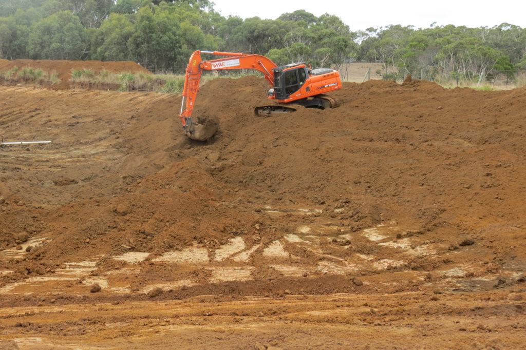 Farm 1 - Bank construction