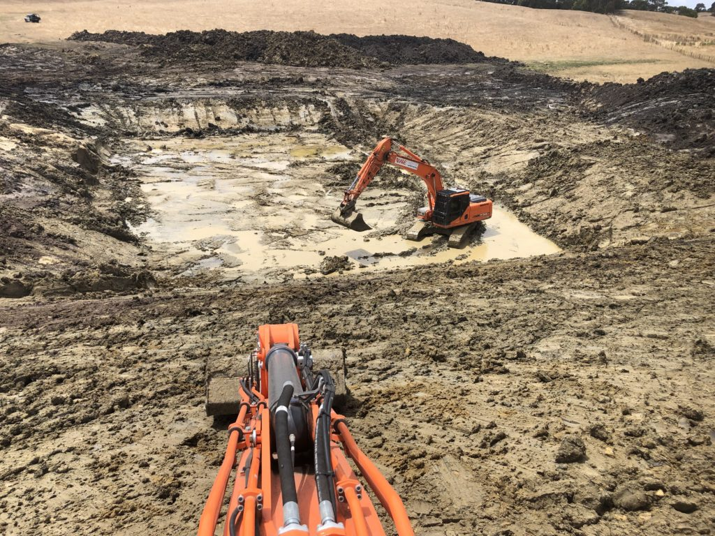 Farm 2 - Forming dam